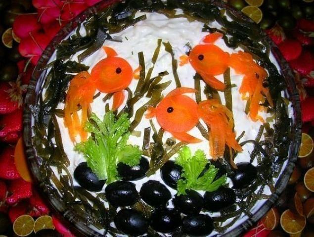 Салат Золоті рибки