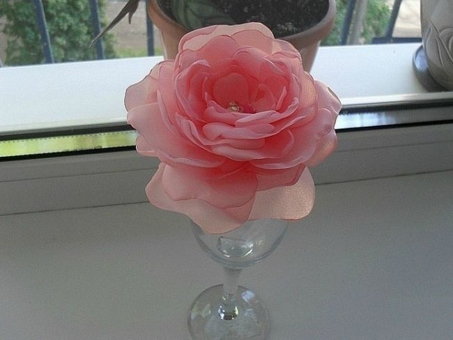 Як своїми руками зробити троянду з капрону